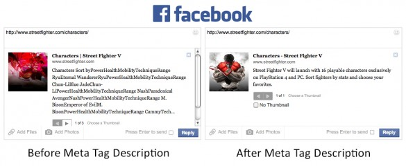 Search Engine Optimization Facebook Before & After